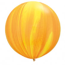 Giant SuperAgate Balloons - Yellow & Orange (30 Inch) 2pcs